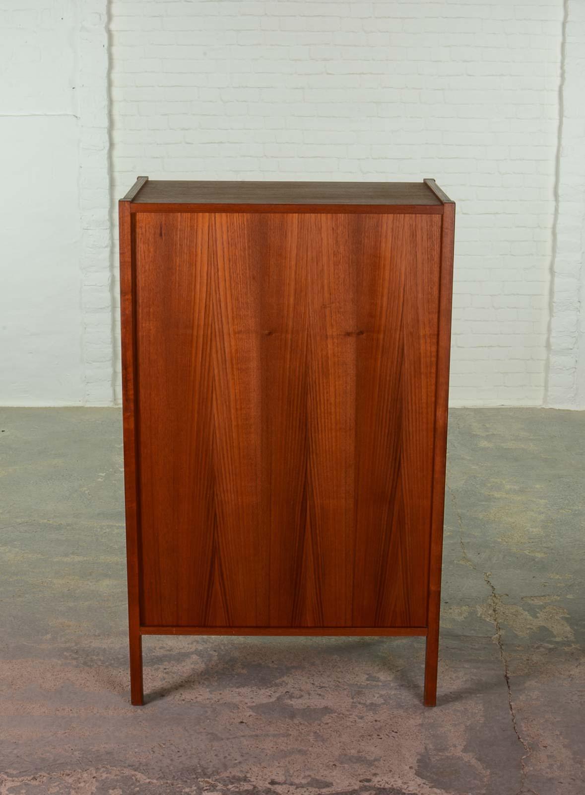 Exclusive Arne Vodder teak tall chest of drawers for Sibast. Exclusive Arne Vodder teak tall chest of drawers for Sibast