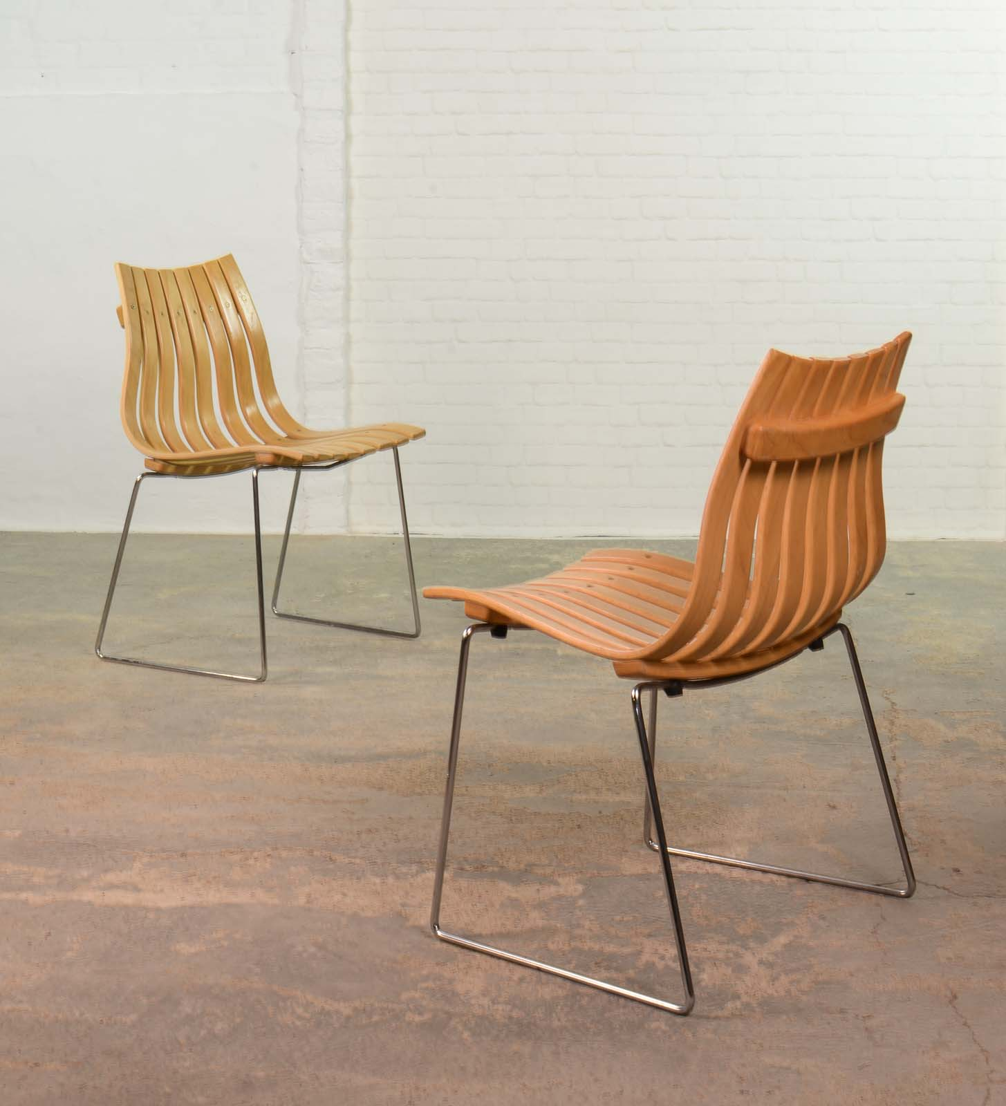 Mid Century Stackable Junior Dining Chairs by Norwegian Designer