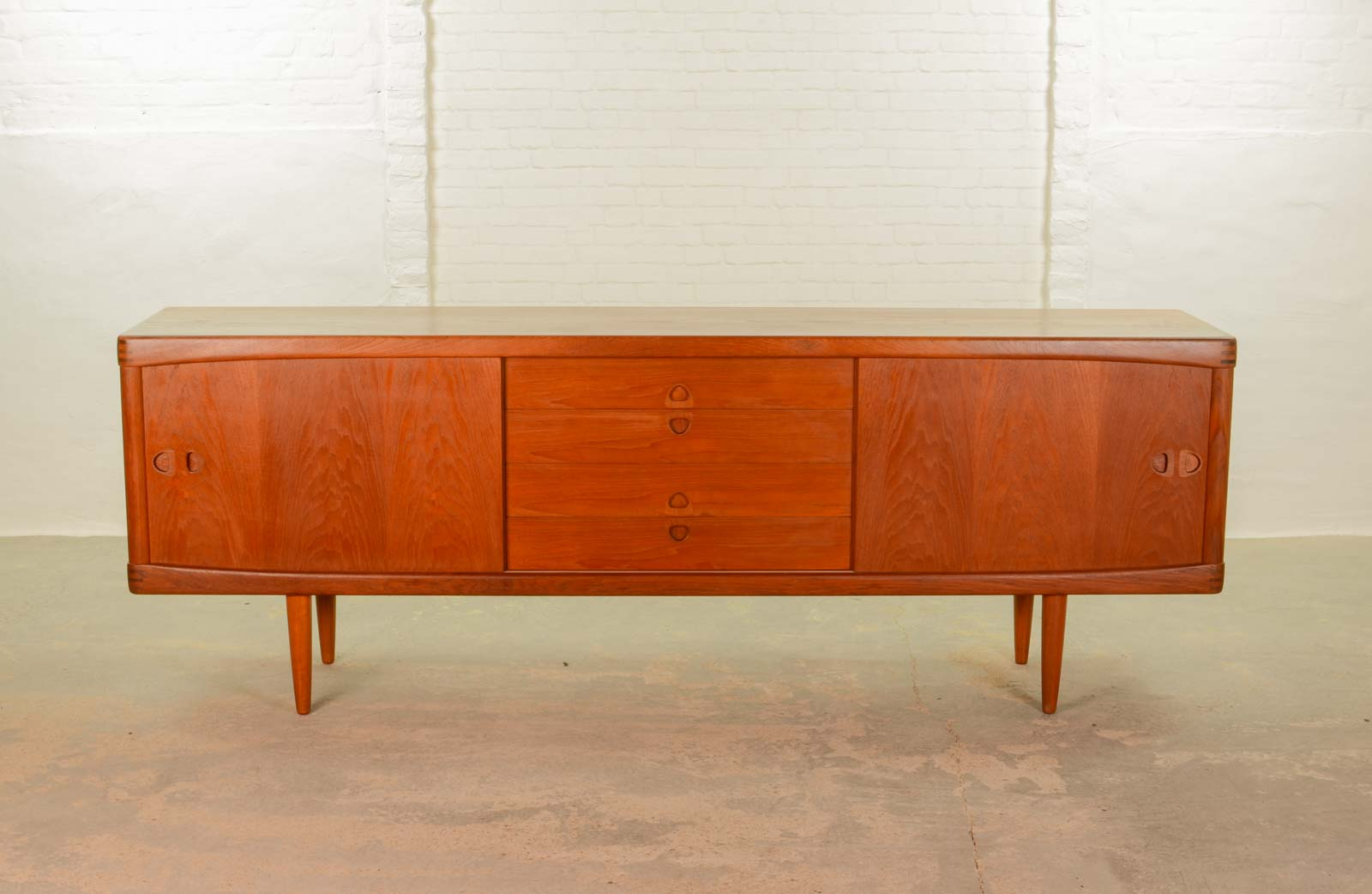 large mid century scandinavian sideboard by h w klein for bramin. Black Bedroom Furniture Sets. Home Design Ideas