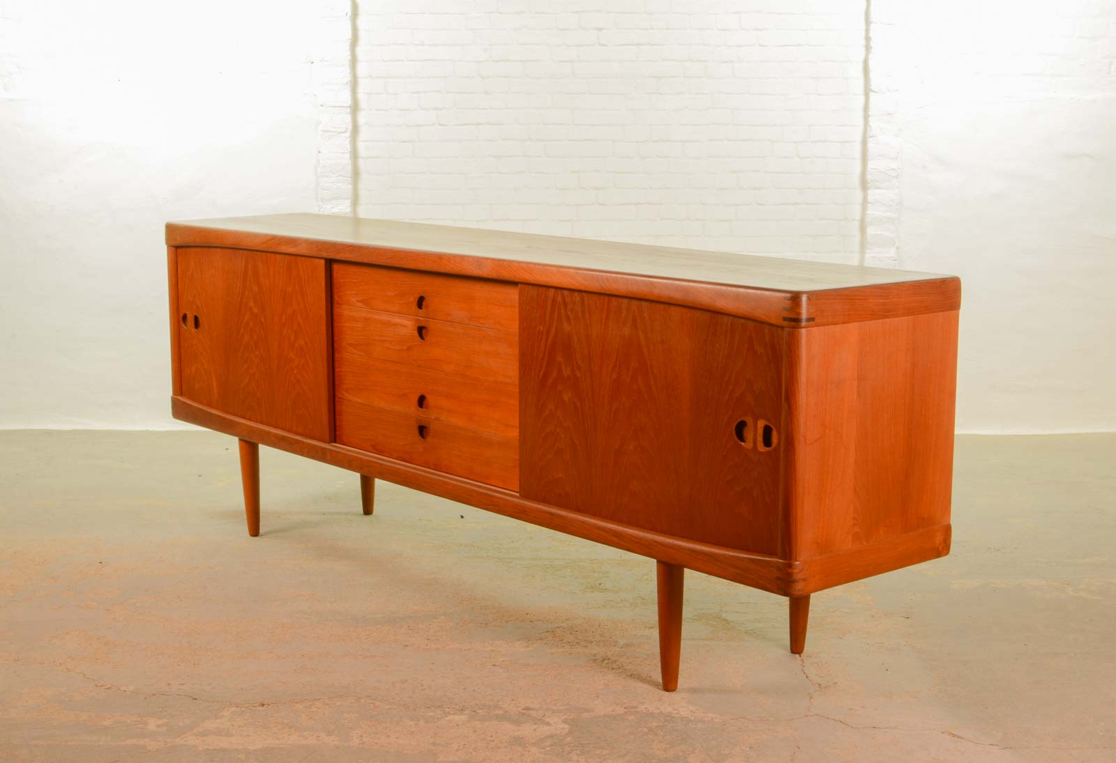 large mid century scandinavian sideboard by h w klein for. Black Bedroom Furniture Sets. Home Design Ideas