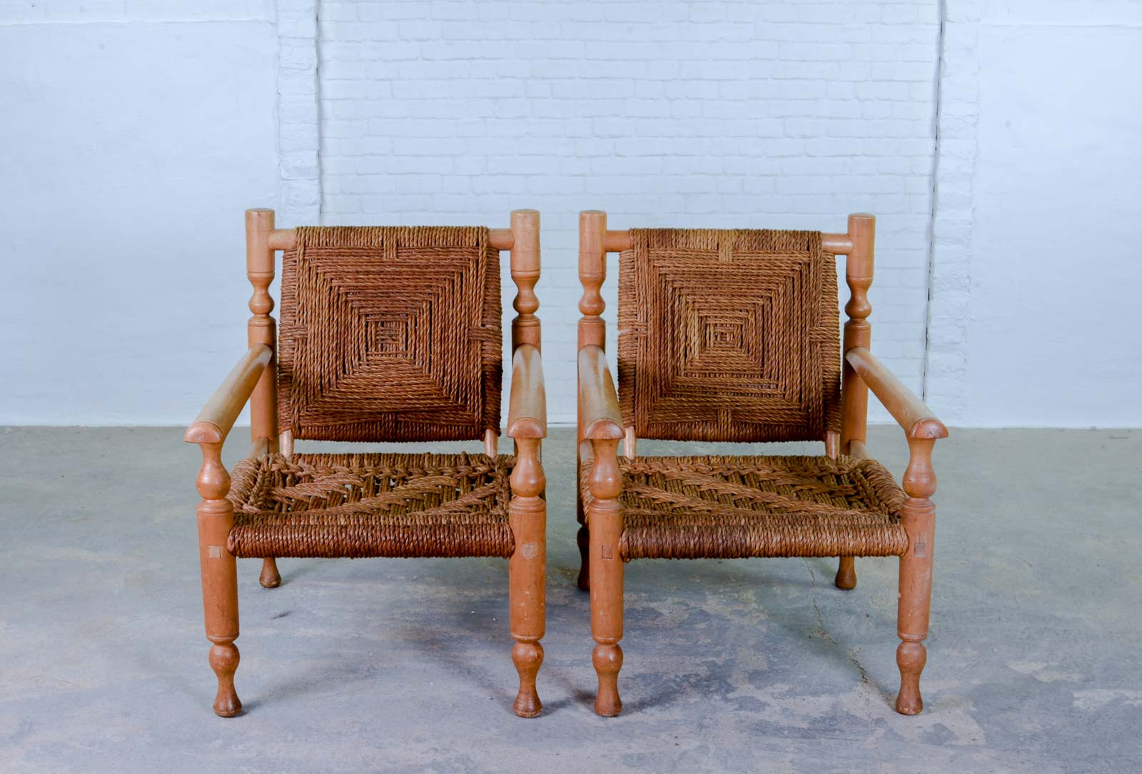 Outstanding Mid Century Pair Of Easy Chairs In Style Of Charlotte Inzonedesignstudio Interior Chair Design Inzonedesignstudiocom