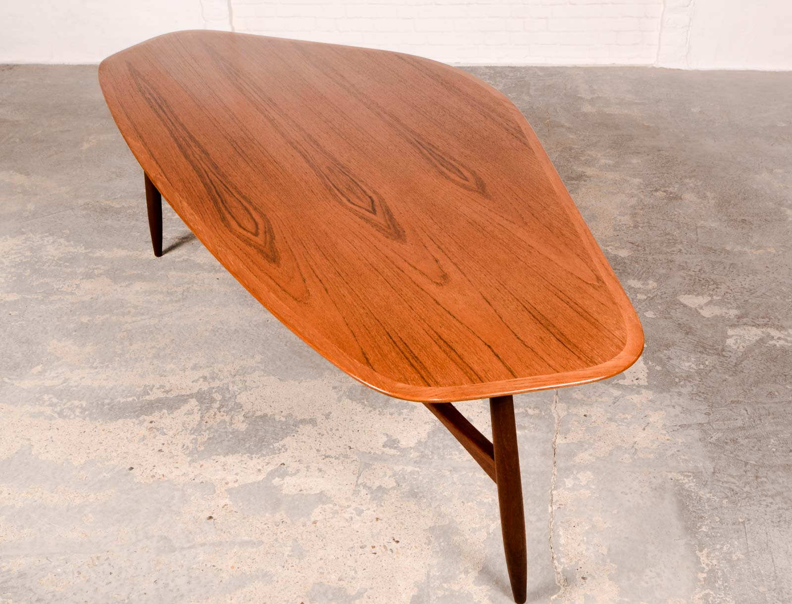 Free Form Shaped Kidney Coffee Table designed by Svante Skogh