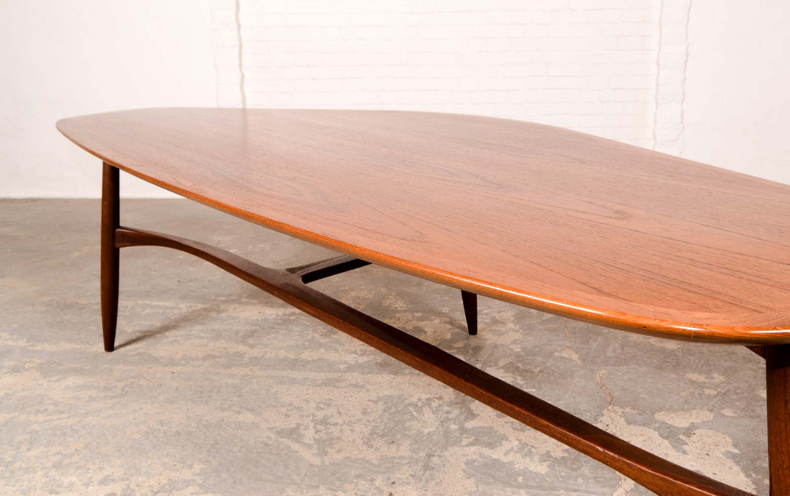 Mid Century Free Form Kidney Shaped Coffee Table Designed By Svante Skogh