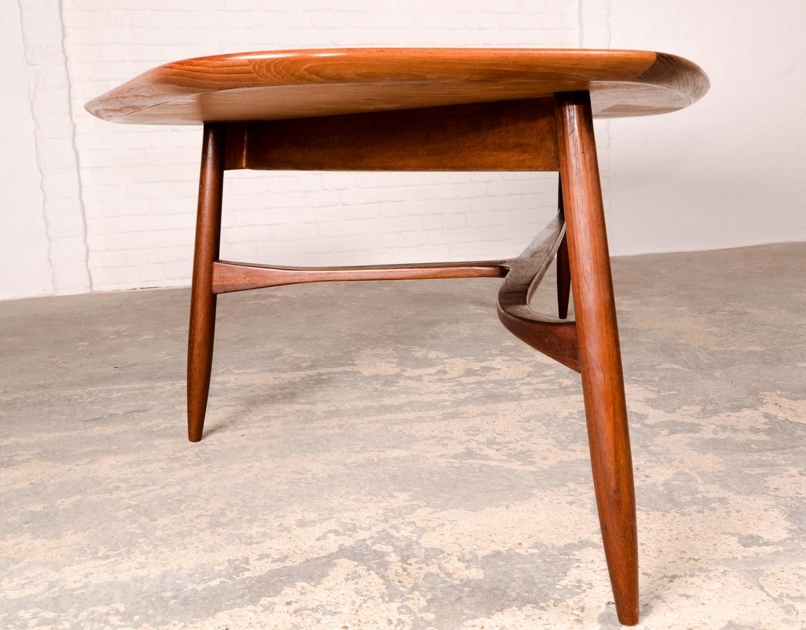 Free Form Shaped Kidney Coffee Table designed by Svante Skogh