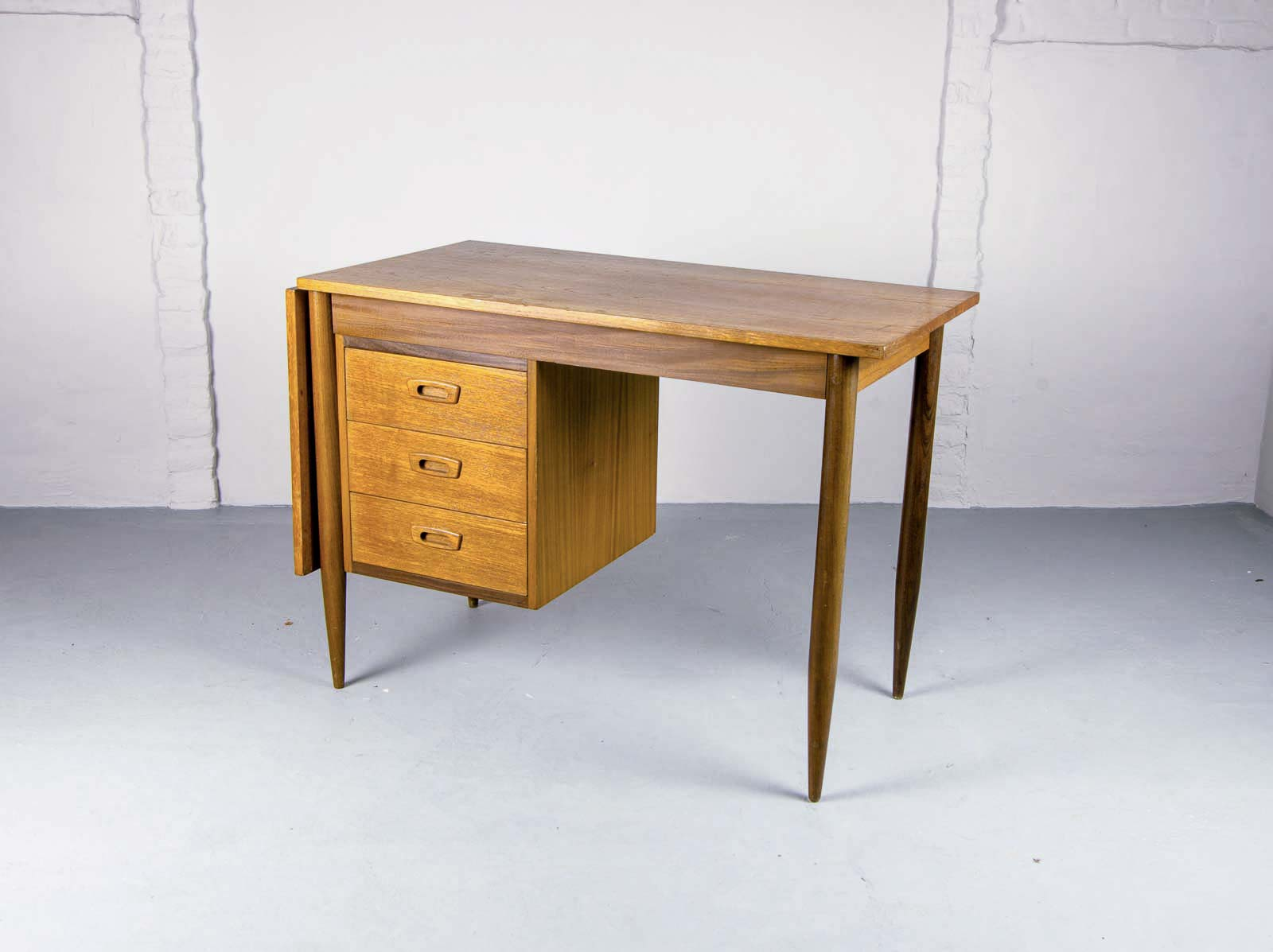 Mid Century Drop Leaf Desk Designed By Arne Vodder For Asko