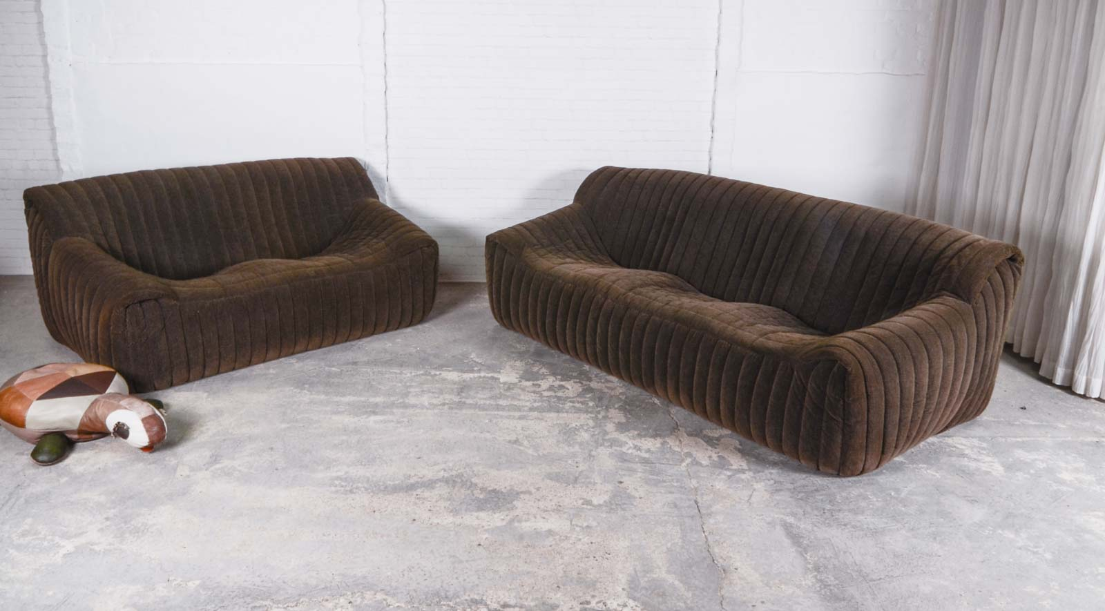 Set of Two and Three Seat Mid-Century Sofas for Cinna (Ligne Roset ...