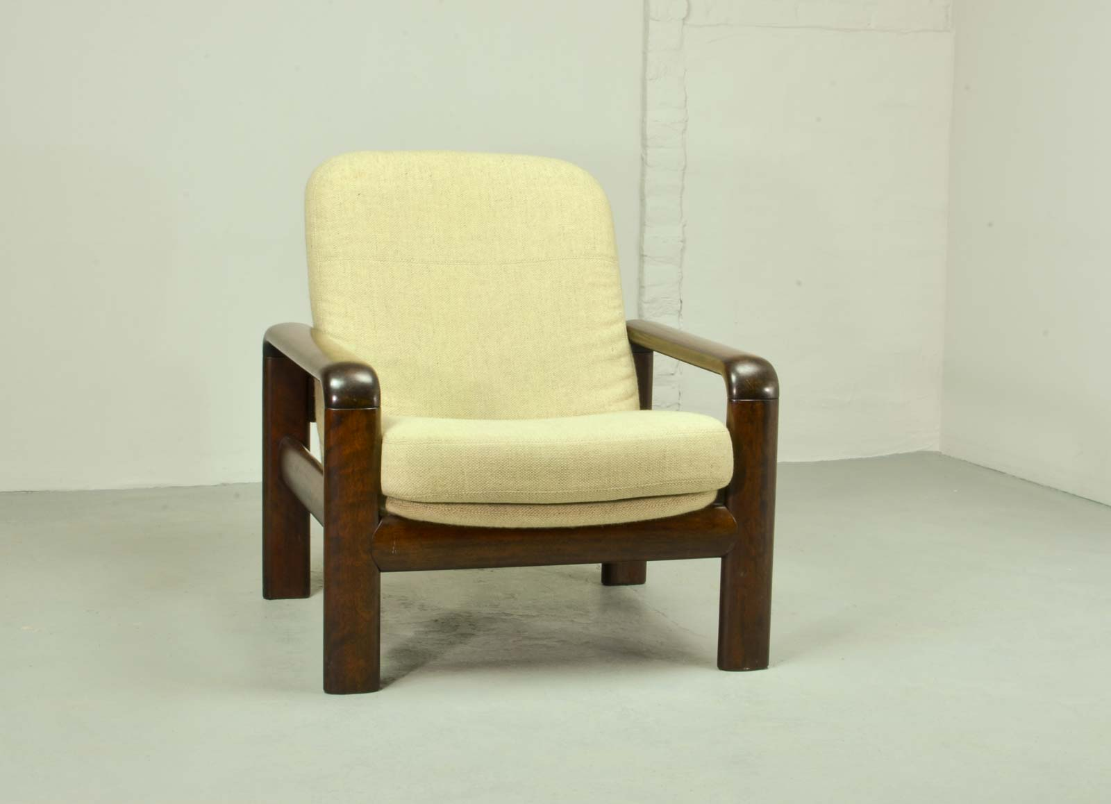 Vintage Dyrlund Shortback Lounge Chair, Scandinavian Design 1960s