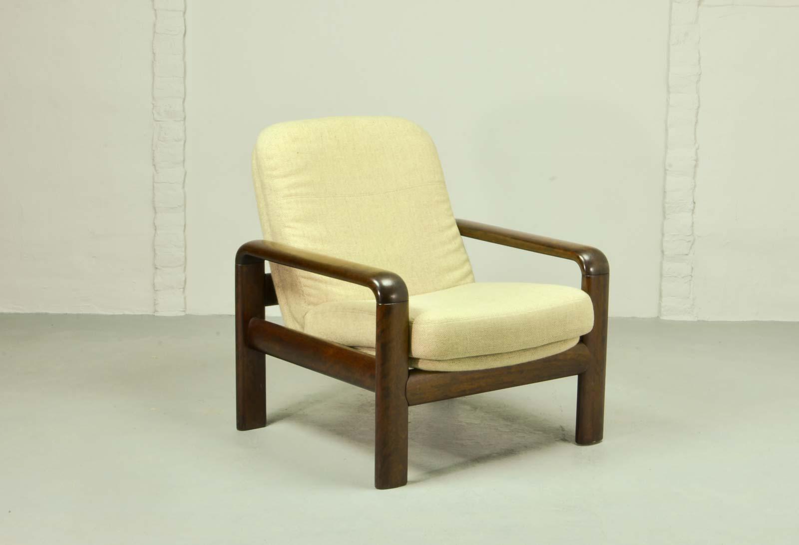 Elegant Vintage Dyrlund Shortback Lounge Chair, Scandinavian Design 1960s