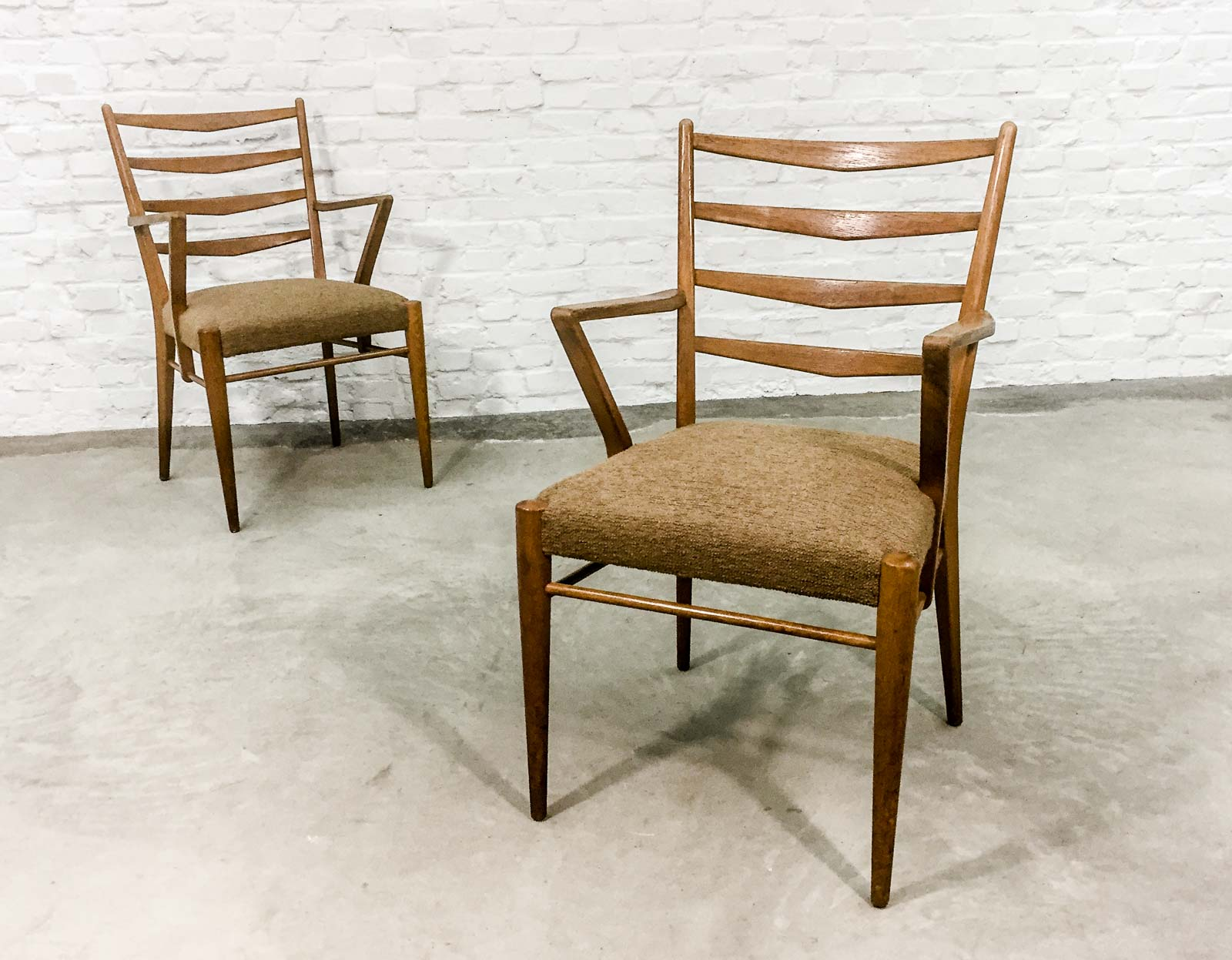 Mid Century Set of Teak Scandinavian Design Dining Chairs