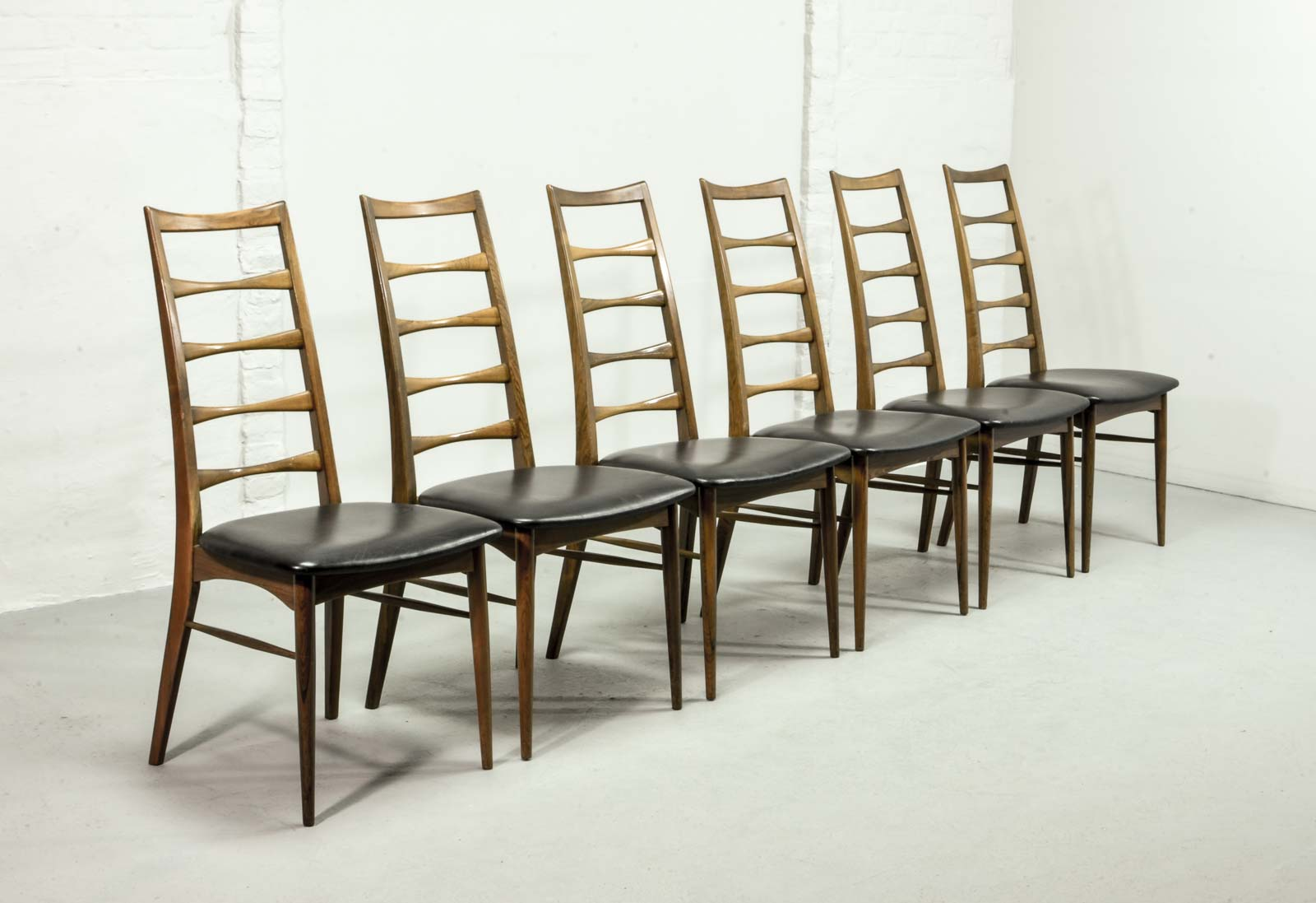 Exclusive Rosewood Set of Six \'Lis\' Dining Chairs designed by Niels ...
