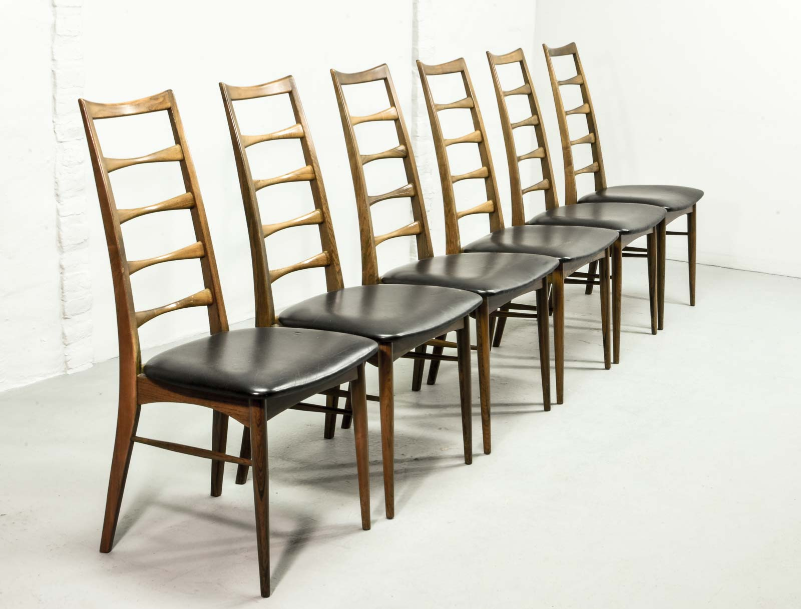 Exclusive Rosewood Set Of Six U0027Lisu0027 Dining Chairs By Niels Koefoed Danish  Design