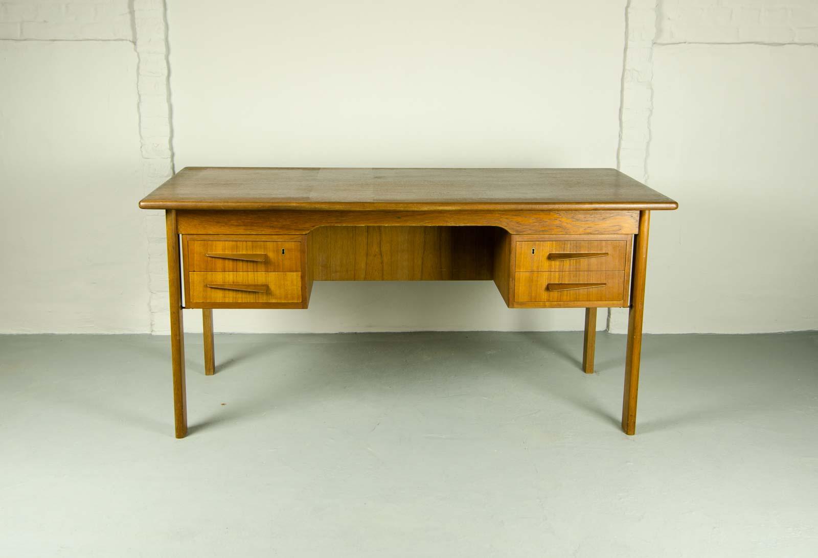 Scandinavian Designed Vintage Teak Writing Desk 1960s
