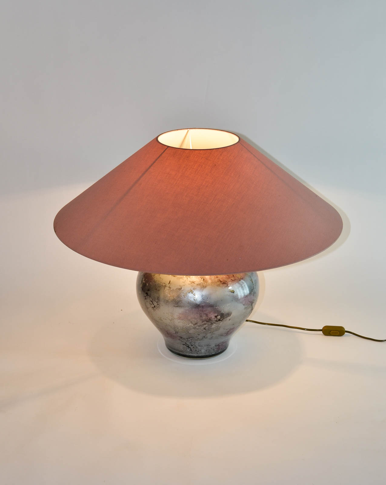 Exclusive lilac silver pair of french handmade glass laque line splendid lilac silver pair of french handmade glass laque line table lamps 1970s geotapseo Image collections