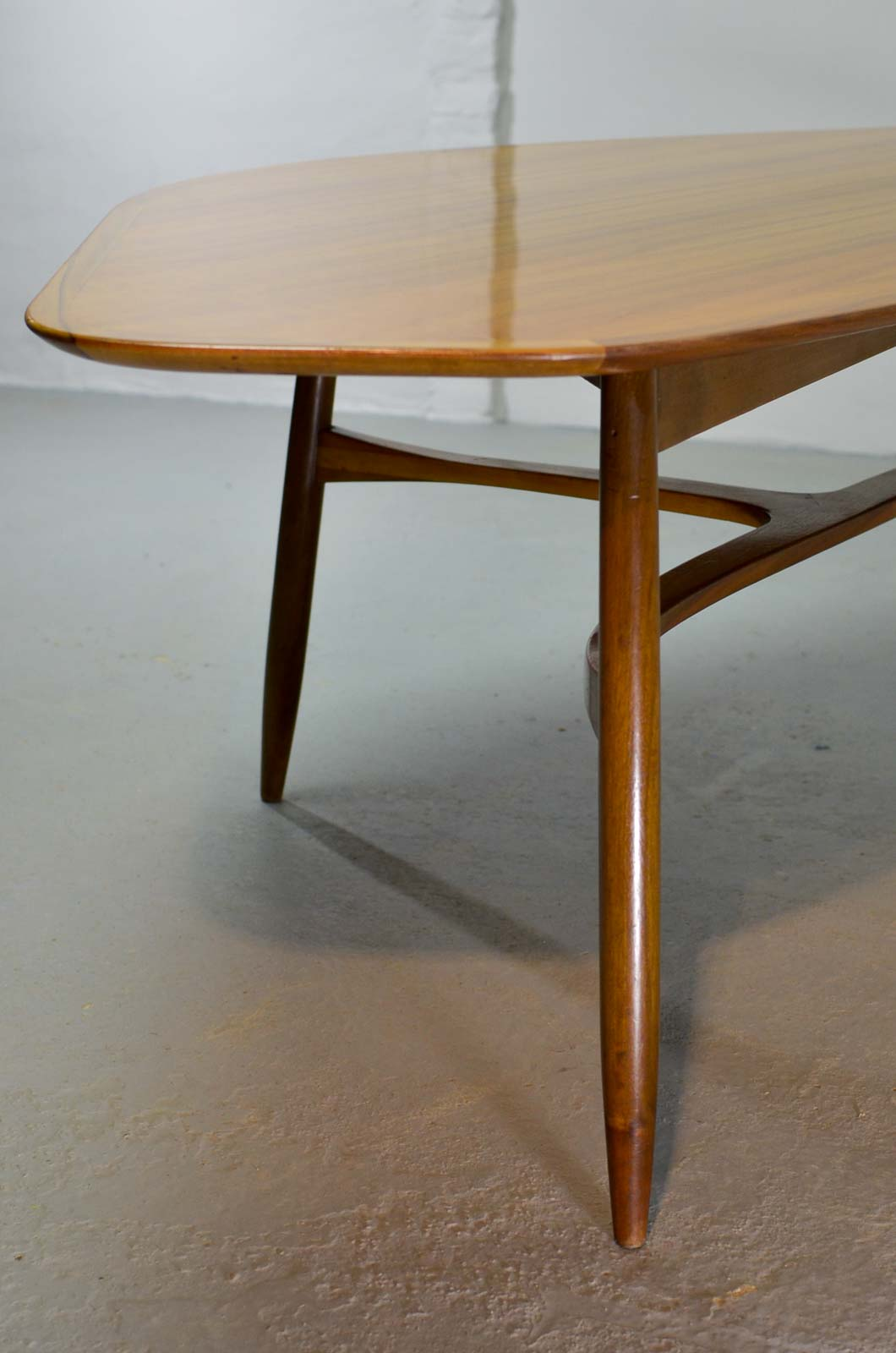 Free form shaped lacquered kidney coffee table designed by for Free form wood coffee tables