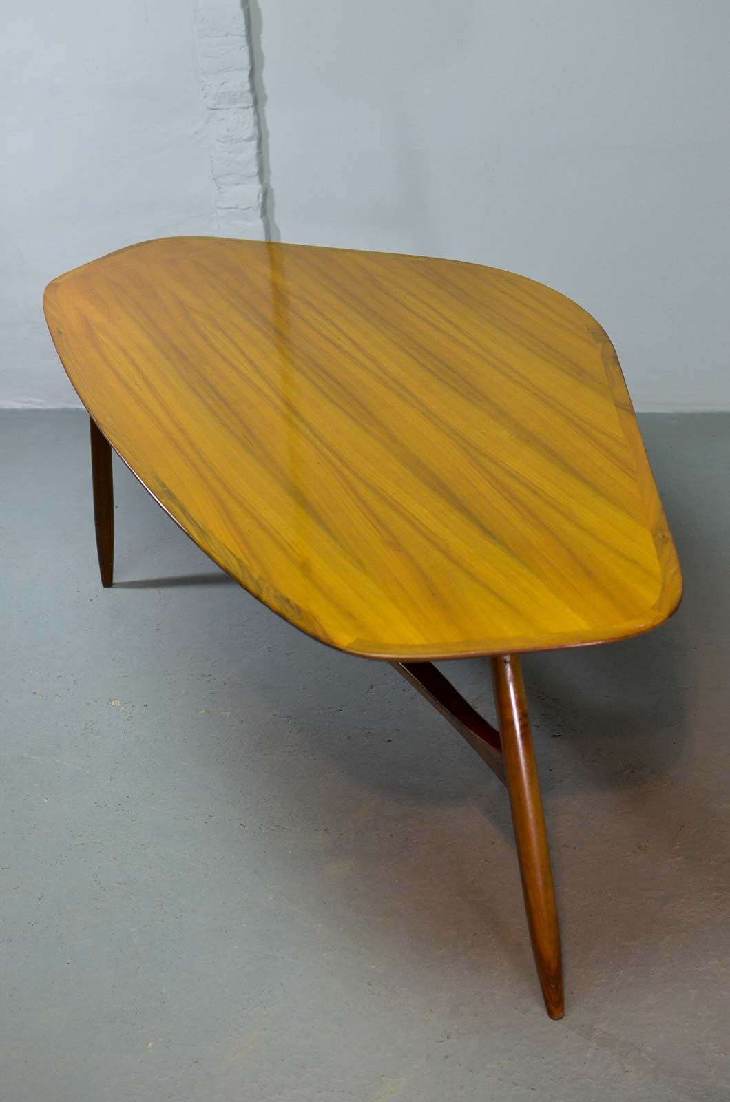 Free form wood coffee table top midcentury swedish design for Free form wood coffee tables