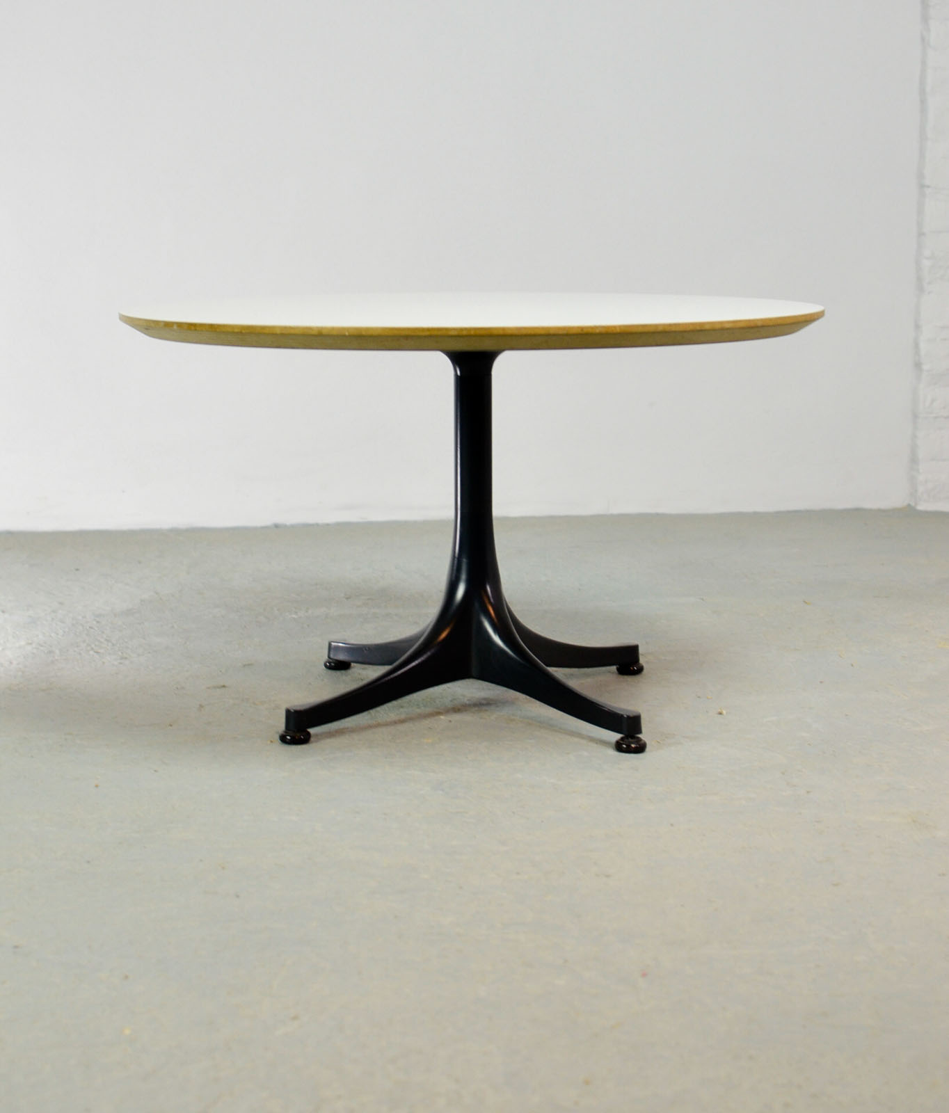 Mid Century Round Black and White Coffee Table Designed by George