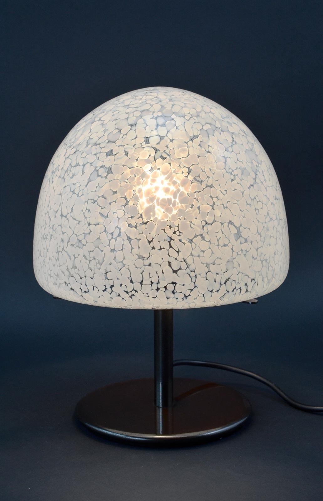 Mid Century Italian Murano Glass Table Lamp After Barovier E Toso, 1950s
