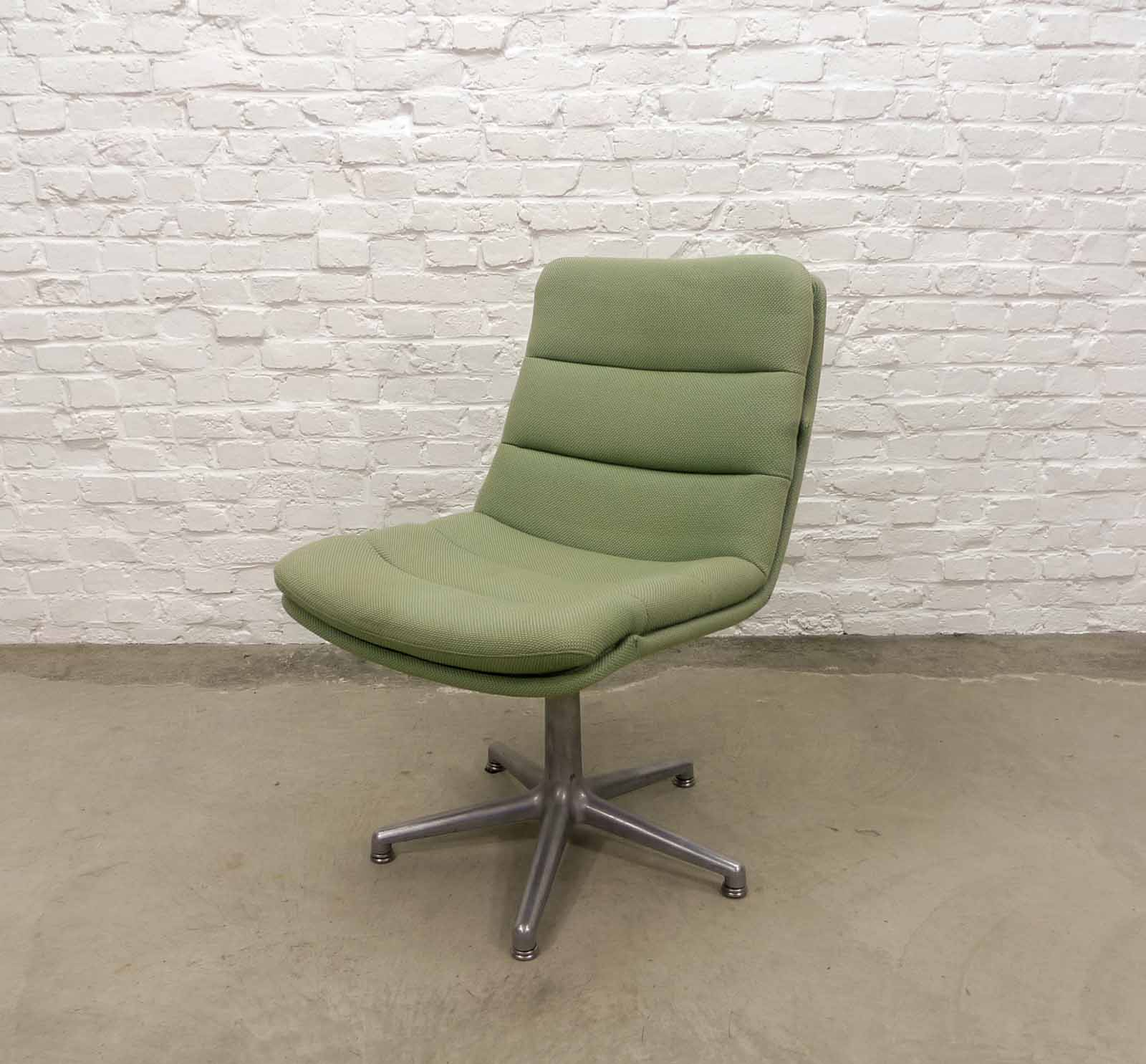 Mid Century Mint Green Desk Chair By Geoffrey Harcourt For Artifort, 1960s