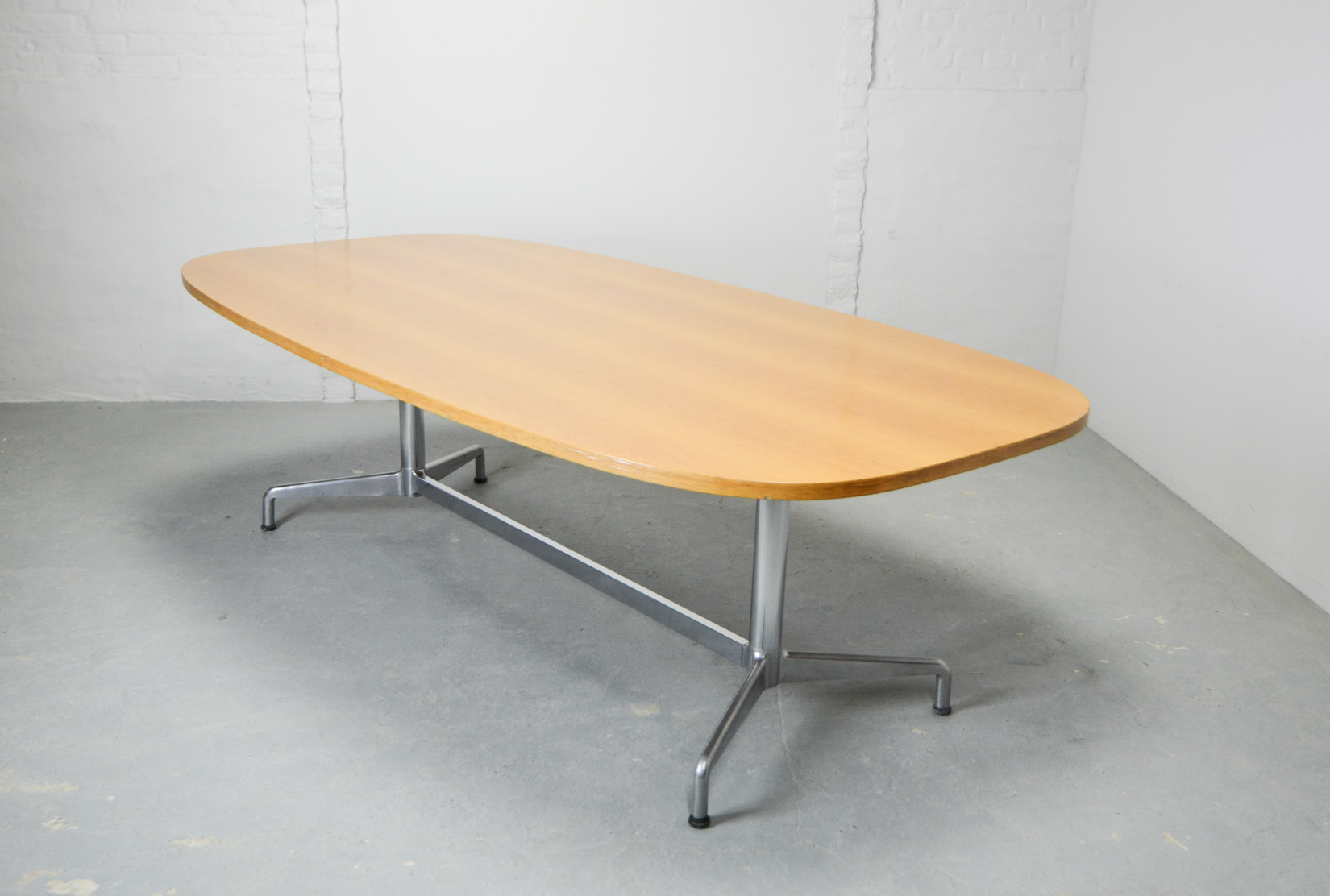 Large Mid Century Design Eames Conference Dining Table For